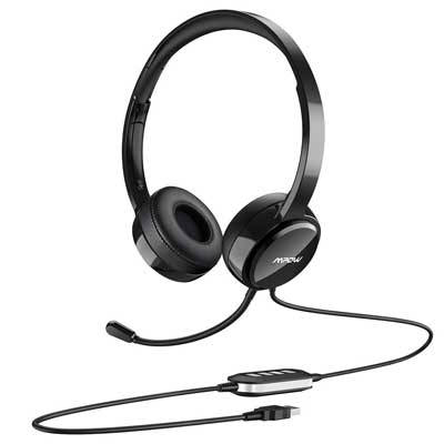 Mpow USB Headset/ 3.5mm Headset with Noise Cancelling Microphone