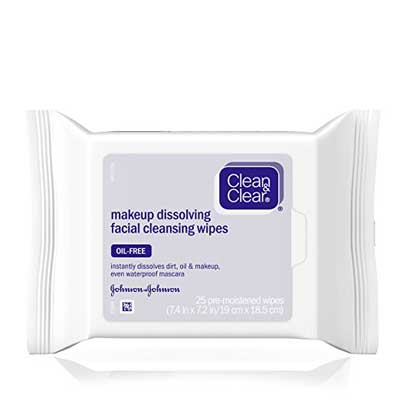 Clean & Clear Oil-Free Makeup Dissolving Facial Cleansing Wipes