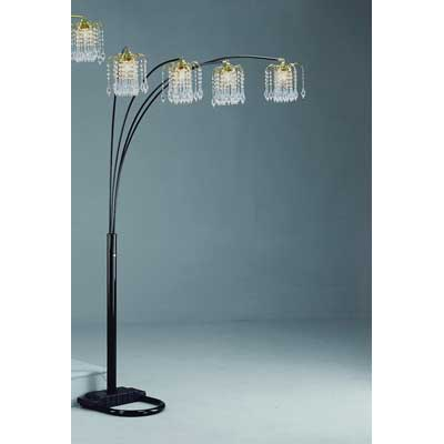 Black Rain Drop Arc Floor Lamp
