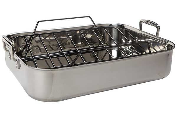 Le Creuset Tri-Ply 17 by 13.75-Inch Stainless Steel Roasting Pan