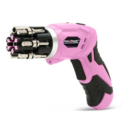 Pink Power 4.8V Screwdriver Set