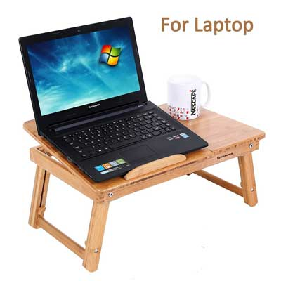 SONGMICS Bamboo Lap Desk