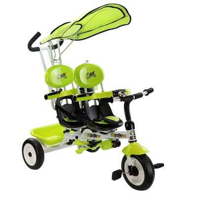 Costzon 4-In-1 Twins Kids Trike