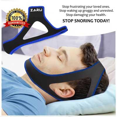 Premium anti snore chin strap