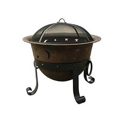 Catalina Creations Heavy Duty Cast Iron Fire Pit with Cover and Accessories