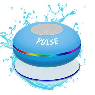 CSJ Pulse Wireless Waterproof Bluetooth 4.0 Shower Speaker