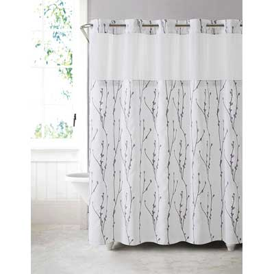 Hookless Arcs and Angels Cherry Bloom Shower Curtain