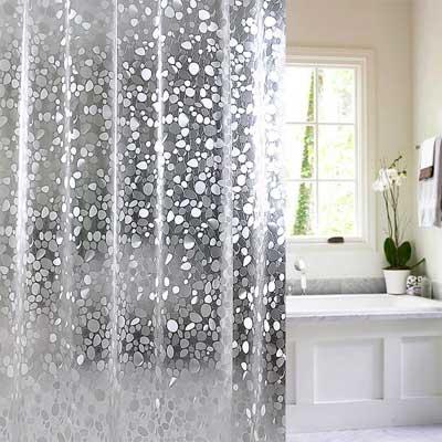 Wimaha 15 Gauge Nontoxic EVA Shower Curtain