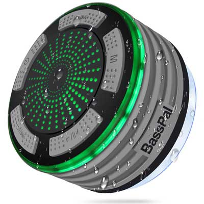 Bluetooth Speakers, Basspal IPX7 Portable Wireless Waterproof Speaker