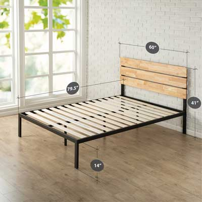 Zinus Sonoma Metal & Wood Platform bed