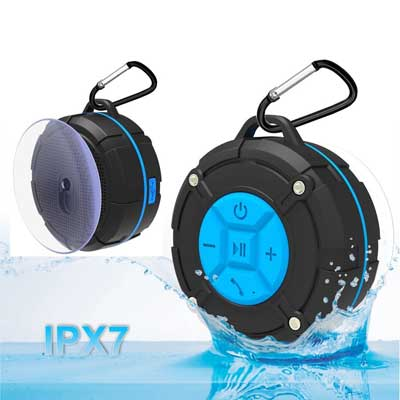 ASIYUN Portable Waterproof Wireless Shower Speakers