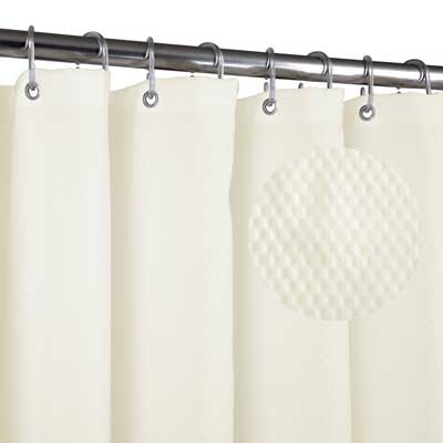 Home Queen Waffle Weave Mold resistant Shower curtain