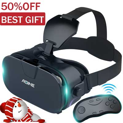 AOINE VR Headset with Bluetooth Remote controller