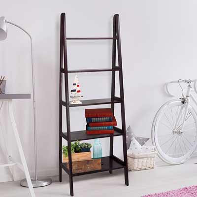 Casual Home 176-53 5-Shelf Ladder Bookcase