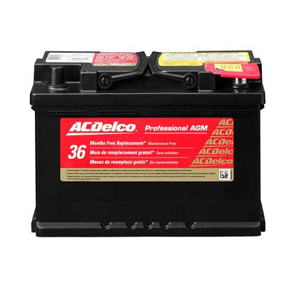 AC Delco 48AGM Professional Automotive BCI Group 48 Battery