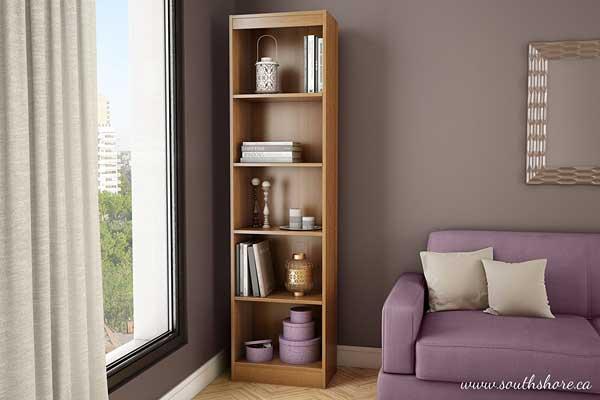 South Sore Axess Collection 5-Shelf Narrow Bookcase