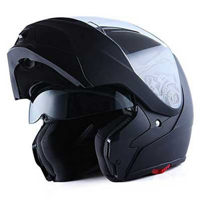 1Storm Motorcycle Street Bike Modular/Flip-up Dual Visor/Sun Shield Full Face Helmet