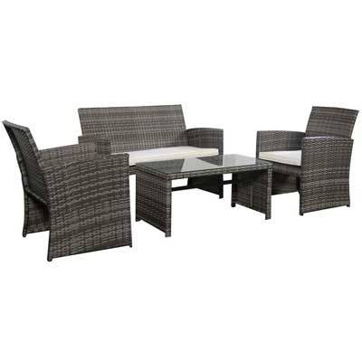 Charmant Goplus 4 PC Rattan Patio Furniture Set