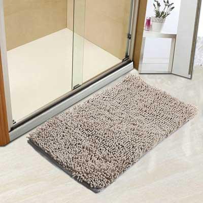 Vdomus Non-slip Microfiber Shag Bathroom Mat