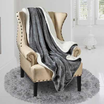 Genteele Super Soft Luxurious Sherpa Throw Blanket