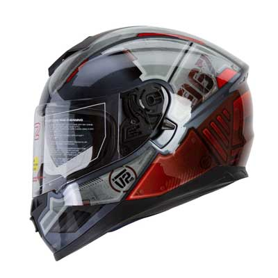 "IV2 Falcon 967 - ""THE MECH"" Mercenary Mech Full Face Street Motorcycle Helmet"