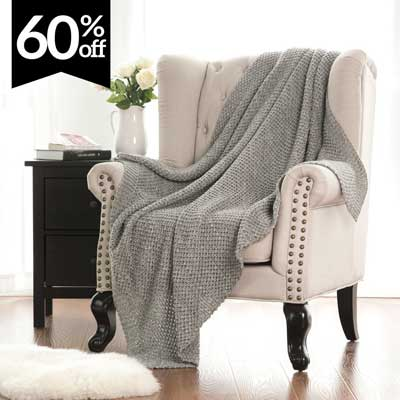 Bedsure Knitted Throw Blanket