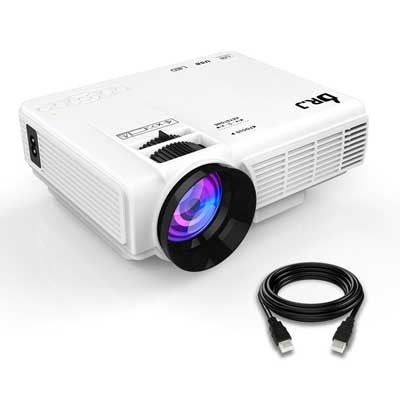 THZY DR.J (Upgraded) 1800Lumens 4Inch Mini Projector