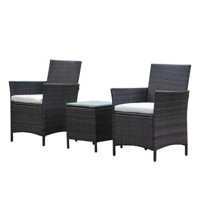 VIVA HOME Patio Rattan Outdoor Garden Furniture Set