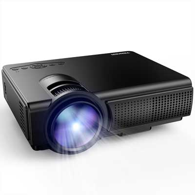 TENKER Q5 with 1500 Lumens LED Mini Projector