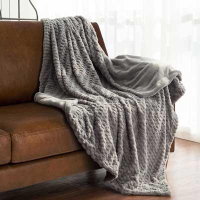 Bedsore Faux Fur Throw Blanket Fleece Bed Blanket