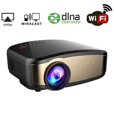 WEILIANTE LCD Portable Mini Movie Wi-Fi Projector