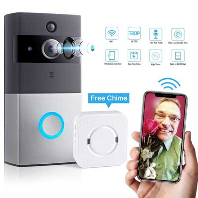 LeadTry VDC-07 Wireless Wi-Fi Video Doorbell Cam