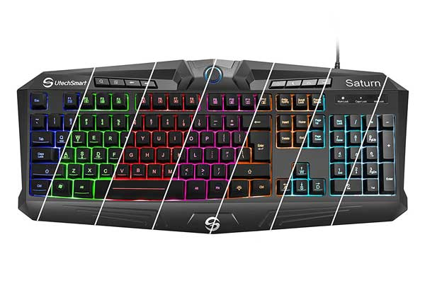 UtechSmart Saturn RGB Visual Effect Wired Gaming Keyboard with Rainbow LED Backlit