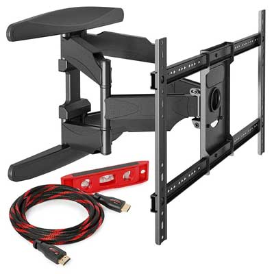 Mount Factory Heavy-Duty Full Motion Articulating TV Wall Mount
