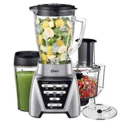 Oster Pro 1200 Blender with Glass Jar PLUS Smoothie Cup & Food Processor