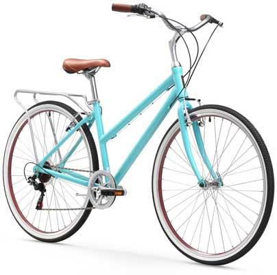 sixthreezero Explore Your Range Women's 7-Speed Hybrid Commuter Bicycle