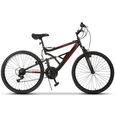 "GTM 26"" Mountain Bike 18 Speed Bicycle Shimano Hybrid Suspension"