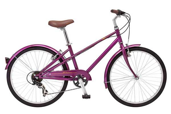 "Schwinn Mifflin 24"" Wheel Hybrid Bicycle, Magenta"