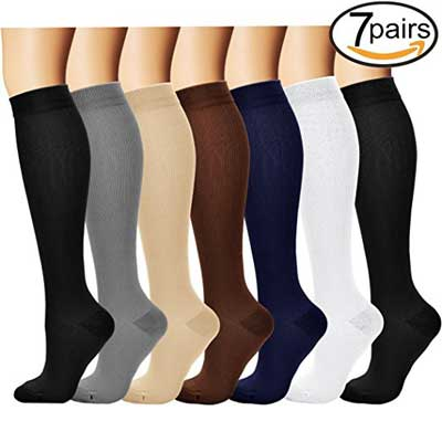 7 pairs Compression Socks for men and women