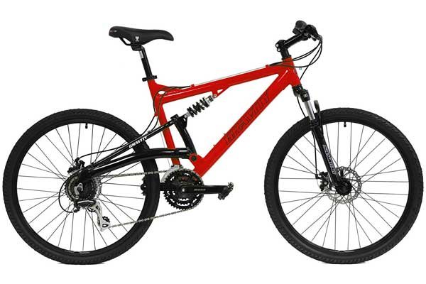 2018 Gravity FSX 1.0 Dual Full Suspension Mountain Bike with Disc Frames