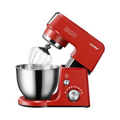 Comfee 2.6Qt Die Cast 7-in-1 Multi-Function Tilt-Head Stand Mixer