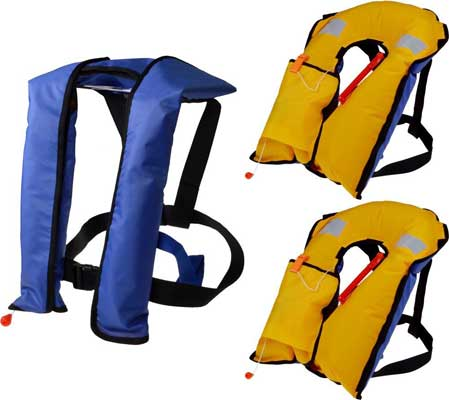 TMS automatic/Manual Auto Inflate Inflatable PFD Survival Aid Sailing Life Vest