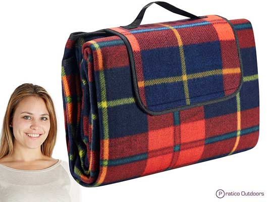 Extra Large Picnic & Outdoor blanket with a water-resistant backing