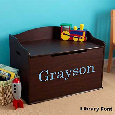 Modern Touch Personalized Boys Toy Box