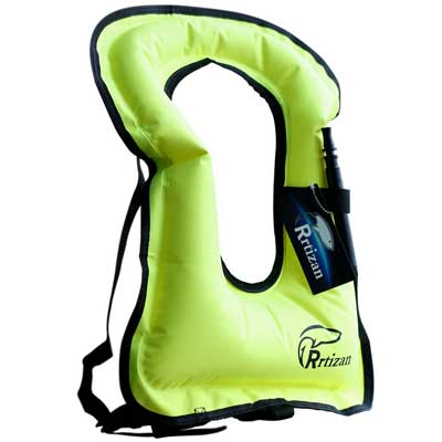 Rrtizan Unisex Portable Inflatable Canvas Life Jacket