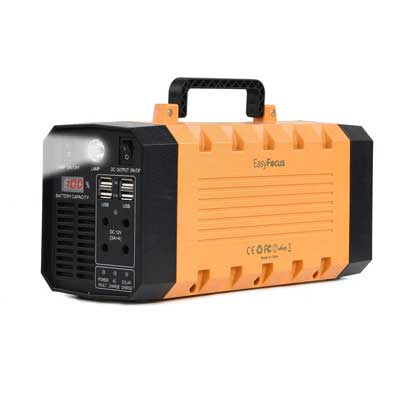 EasyFocus 500W 288WH Backup Portable Generator Solar Power Source