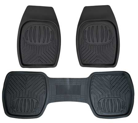 Drisen Heavy Duty All Season Deep Dish 3 Piece Rubber Floor Mats