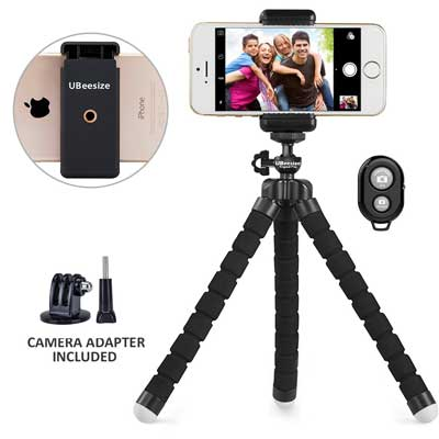 Phone Tripod, UBeesize Portable, and Adjustable Camera Stand Holder