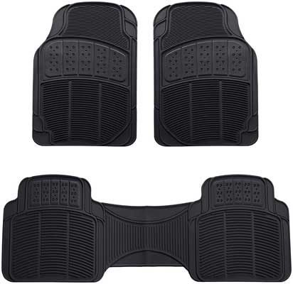 Amazon Basics 3 Piece Car Floor Mat, Black