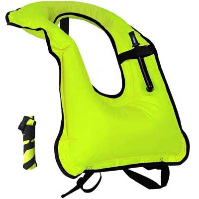 Inflatable Snorkel Vest Snorkeling Adult Jacket, Lesberg
